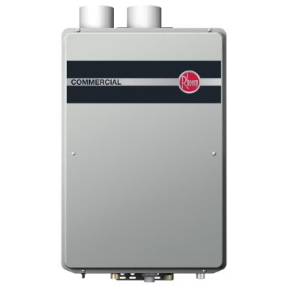 Rheem Natural Gas Condensing Tankless Water Heater - Built-In Manifold