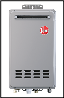 Rheem RTG-95XELP-1 Outdoor Tankless Water Heater Built in EcoNet Wifi